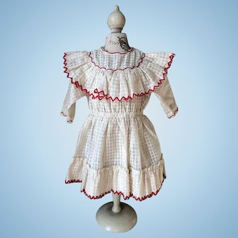 French all original doll dress.