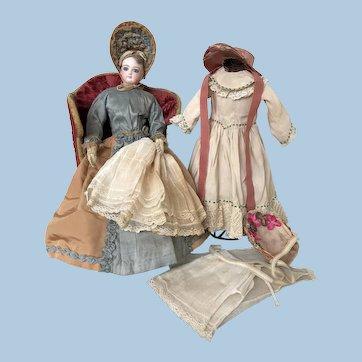 Jumeau French Fashion Doll, huge almond eyes, bespoke dresses and hats !