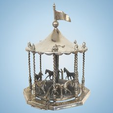 Miniature carousel in Sterling Silver