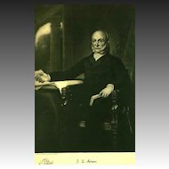1907 'John Quincy Adams' Presidential Portrait , Fine Art, Gravure Print