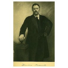 Antique 1907 President Portrait 'Theodore Roosevelt' - Historical Art Print