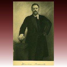 Antique 1907 President Portrait 'Theodore Roosevelt' - Historical Art Print
