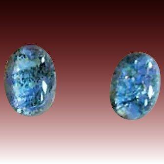 EXQUISITE German Fire Opal Glass Earrings, RARE 1940's German Fire Opal Glass Beads