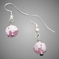 STUNNING Venetian Millefiori Art Glass Earrings, Murano Glass Beads