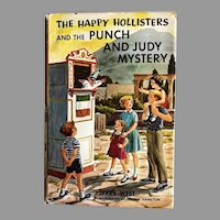 1964 'The Happy Hollisters and the Punch and Judy Mystery' SCARCE First Edition, Original Dustjacket $1.50 Flap, Pages MINT