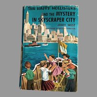 1959 'The Happy Hollisters and the Mystery in Skyscraper City', SCARCE First Edition, Original Dustjacket $1.50 Flap, Volume 17