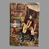 1963 The Happy Hollisters and the Castle Rock Mystery, SCARCE First Edition, Original Dustjacket $1.50 Flap, Volume 23