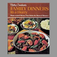 RARE 1970 Betty Crocker's Family Dinners in a Hurry, First Edition, Stated First Printing, Vintage, Meal Planning. Oversize, Pages MINT