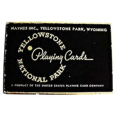 RARE 1943 'Yellowstone National Park' Souvenir Vintage Playing Cards, Official Yellowstone Photographer 'Frank Jay Haynes', Wyoming, Scenic Views, MINT Unopened Deck