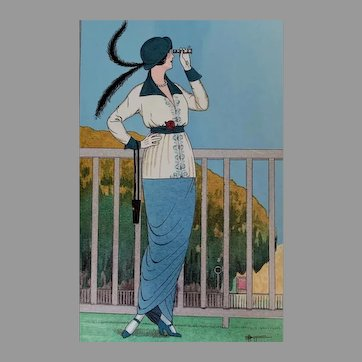 RARE 1988 'Ready to Frame Parisian Fashion Plates', Parisian Artists, Fashion Illustrators, Fashion Design, George Barbier, Armand Vallee, Fabius, Portflio Book, First Edition, 6 Mint Prints, OUT-OF-PRINT