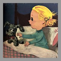 RARE 1956 'Muggsy' The Make-Believe Puppy, Elf Book #537,  Plush Toys, Firefighter, Hardcover, True FIRST EDITION