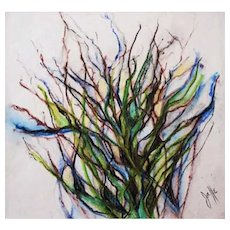 STUNNING Original Watercolor Painting by Judith Jaffe, Signed, Meditation on Nature Series, Pen and Ink, Botanical, Original Art, One-of-a-Kind