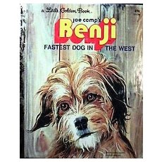 *Vintage Little Golden Book 'Benji' – Fastest Dog in the West - Picture Book