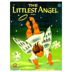 1960 'The Littlest Angel', Charles Tazewell,1st Ed, Illustrated Christmas Story, Wonder Books