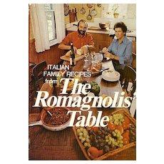 RARE 1975 'The Romagnolis' Table' w/ DJ – Italian Cookbook / Restaurant