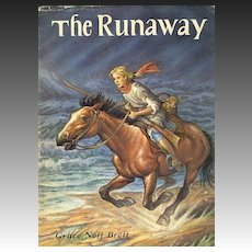 1958 'The Runaway' Collector's Dustjacket, Illustrations, Adventure, Vintage