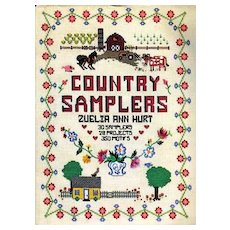 RARE 1984 'Country Samplers' Crafts, First Editition, Original Dustjacket, Needle Art, Color Photographs, Embroidery, OUT-of-PRINT