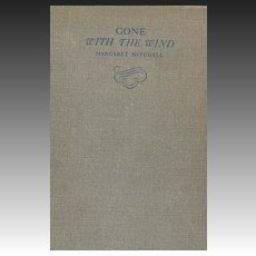 1936 'Gone with the Wind' Margaret Mitchell, Collector's - TRUE 1st Edition, Stated June, 1936, Vintage