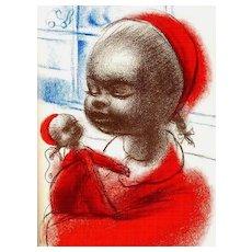 1966 1st Ed 'Becky' John Wilson PAINTINGS / Birthday Doll - African American Family / Rare / Story/ Vintage