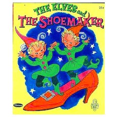 """1958 1 st Ed """"The Elves and the Shoemaker"""" Fairy Tale - RARE / Illustrated / Tell-A-Tale #2558 / Vintage / Fantasy"""