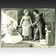 1896 1st Ed 'Last Century Maid' Stories LITHOGRAPH Illustrations - RARE 1st Printing / Colonial Historical Fiction