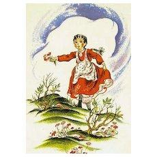 1940 The Story of Miss Jemima, RARE Color Illustrations, Fairy Tale, Mystery, Walter de la Mare