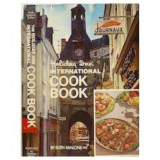 1972 1st Ed 'Holiday Inn Cookbook' Hotel Restaurants / Travel -  Master Chef's BEST Regional Cooking /  Wraparound DJ