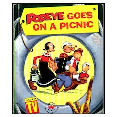 1958 'Popeye Goes On A Picnic' TV Show, 1st Ed, Bud Sagendorf Illustrations, Cartoons, Vintage / Olive Oyl