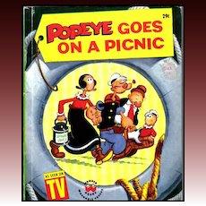 1958 'Popeye Goes On A Picnic' TV Show, 1st Ed, Bud Sagendorf Illustrations, Cartoons, Vintage / Olive Oyl