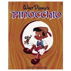 "1948 1st Ed Walt Disney's 'Pinocchio' Little Golden Book #D100 - RARE ""A"", 39 Cent / Movie / Warner Bros"