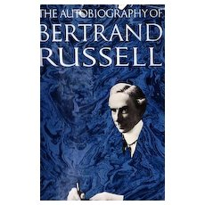 RARE 1967 1st Ed 'Bertrand Russell' Autobiography w/ DJ – Nobel Prize Philosopher / Photographs / Vintage