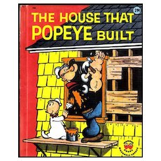 SCARCE 1960  The House That Popeye Built  Cartoon Characters / Television  / Vintage