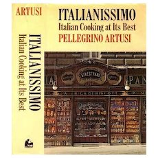1975 'Italianissimo' Italian Cooking at Its Best, DJ, 1st Ed - Pellegrino Artusi, Illustrated, Entertaining