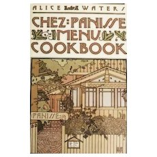 1982 1st Ed 'Chez Panisse Menu Cookbook' DJ, Alice Waters -  San Francisco Restaurant, Entertaining, Celebrity Chef