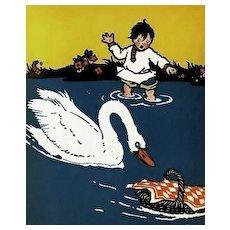 1924 1st Ed 'The Poppy Seed Cakes' Russian Folk Tales - Maud & Miska Petersham ART, Farm Life, Animal Stories