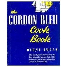 1947 1st Ed `Dione Lucas' Cordon Bleu Cookbook DJ, Illustrated – James Beard Award, French Cooking, Entertaining