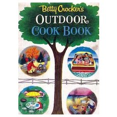 1961 1st Ed Betty Crocker 'Outdoor Cookbook' Illustrated - Barbecue, Entertaining, Grilling, Vintage
