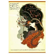 1978 1st Ed 'Erte Graphics' Lithograph Paintings - Exotic Art, Five Complete Suites, Graphic Art, RARE