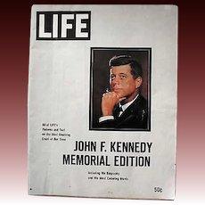 RARE 1963 LIFE Magazine, President John F. Kennedy, Memorial Edition, Jackie Kennedy, Caroline Kennedy, John Jr., Sixties, J,F.K., Assasination, Authentic Vintage LIFE Magazine