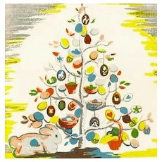 RARE 1950 'The Egg Tree' 1st Ed, DJ, Easter Holiday, Katherine Milhous Folk Art, Caldecott Medal, Vintage