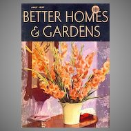 July, 1937 Better Homes & Gardens Magazine, Advertising - Architect Robert Carr, Modern Homes,  Interior Design