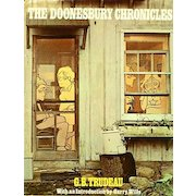 1975 'Doonesbury Chronicles', RARE First Edition, First Printing, G. B. Trudeau Comic Strip, Cartoonist, Original Dustjacket, Vintage