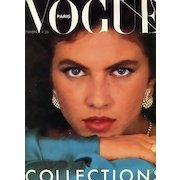 Vogue Magazine September 1980, Haute Couture, Paris, Fashion Designers, French, Models, Photography