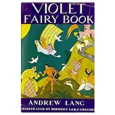 RARE 1947 Violet Fairy Book, DJ, Andrew Lang - Illustrated Fairy Tales, Fantasy, Folklore