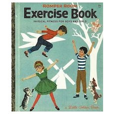 "1964 Little Golden Book 'Romper Room' Exercise Book - First Edition, ""A"" First Printing #527"