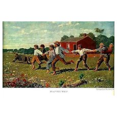 1961 'Winslow Homer' American Artist, First Edition, DJ - Paintings, Collector's, Americana, Vintage