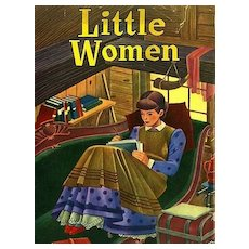 1951 'Little Women' Louisa May Alcott, 1st Ed, DJ, SARI Illustrations, Vintage