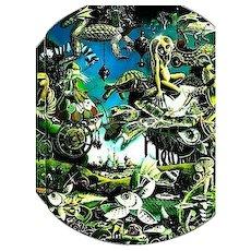 1987 'The Second Earth' DJ, Fantasy - Patrick Woodroffe Paintings, Science Fiction, Mythology