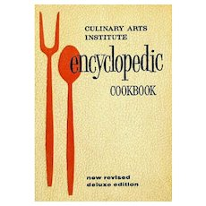 Culinary Arts Institute Encyclopedic Cookbook, MINT Pages, Rare Gold Cover, 1969 New Revised Deluxe Edition