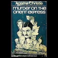 1960 Agatha Christie 'Murder on the Orient Express' DJ, Mystery, Allan Mardon Illustration